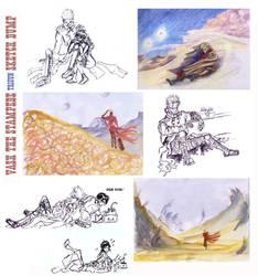 Trigun Sketch Dump #2 by JasperK-StoneKing