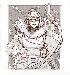 Mei Overwatch Fan art sketch by Rattish-ra