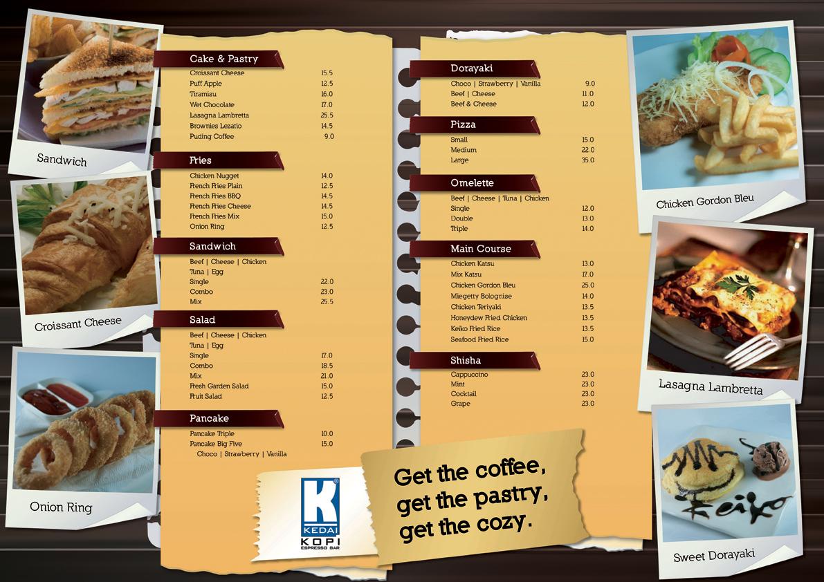Kedai Kopi Espresso Bar Malang Menu Design Food by ...