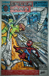 Spider-Man vs Doctor Octopus - Comic Cover Art.