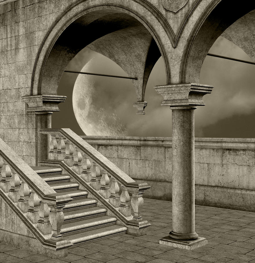 Castle Balcony 2 Stock by Kylee29