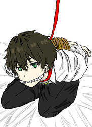 Restrained Oreki by otomihs