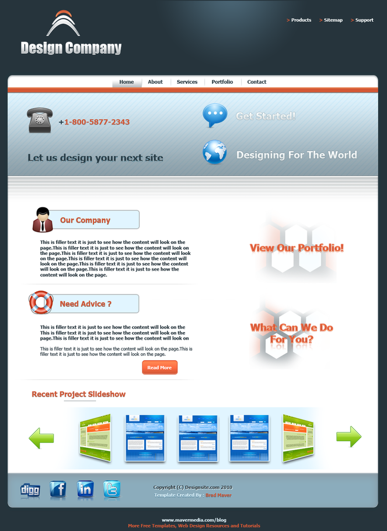FREE TEMPLATE -  WEB DESIGNER by mavermedia