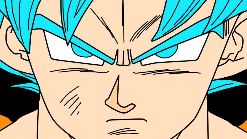 Goku Super Saiyayin Dios Azul (solo Rostro) by MarcoVerdugo