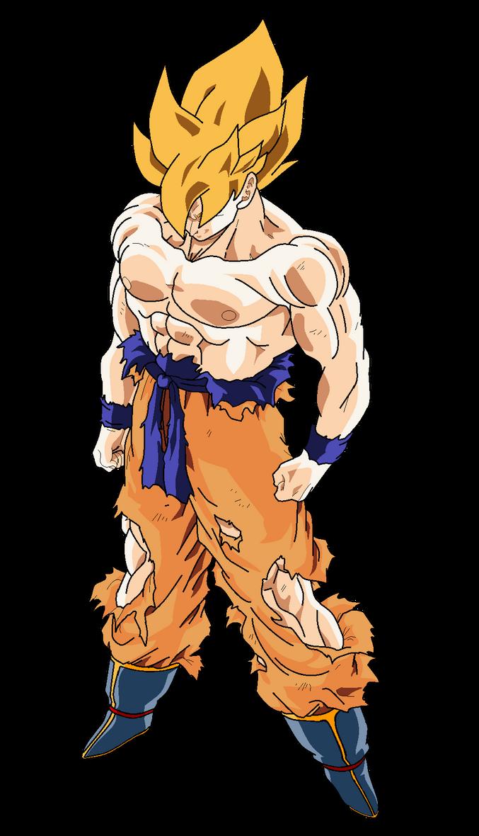 Goku Super Saiyajin (Alt.Color#1) by MarcoVerdugo