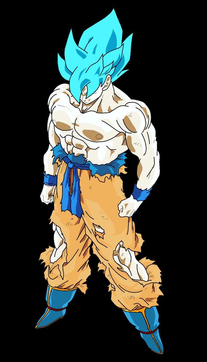 Goku Super Saiyajin (Alt.Color#2) by MarcoVerdugo