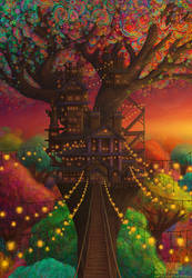 Twilight Treehouse of the Phosphorescent Forest