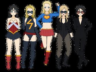 Super Heroines by Khorvuss