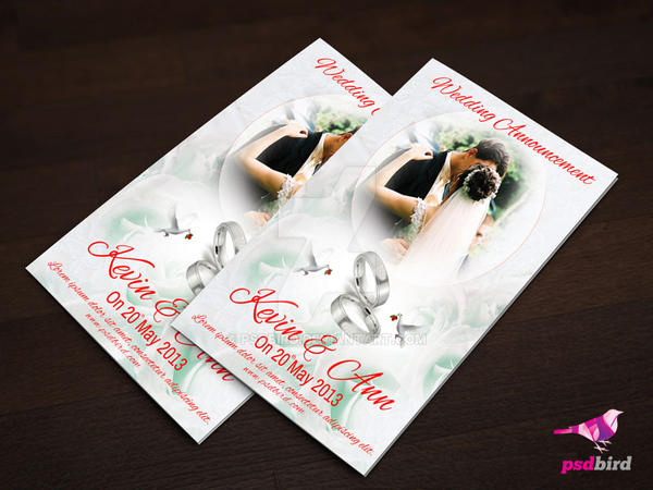 Free wedding invitation card psd by psdbird on deviantart free wedding invitation card psd by psdbird stopboris Images