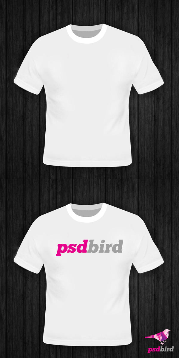Free blank t shirt mockup template psd by psdbird on for T shirt mockup template free download