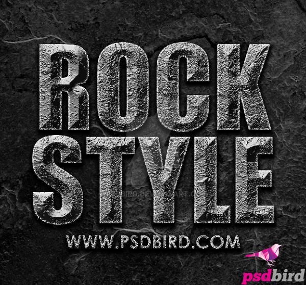 Free Photoshop Rock Layer Style .ASL