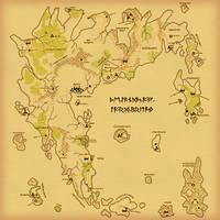 Britannia Map Parchment by Hai-Etlik