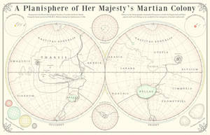 Map of Victorian Mars Colony by Hai-Etlik