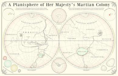 Map of Victorian Mars Colony by Hai-Etlik
