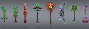 Dragon Relic Weapon by DmitriyBarbashin