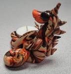 OOAK Polymer Clay Dragon Tea Light Candle Holder