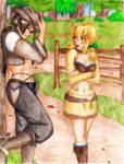 Art trade with Kojika-finished by Hikachu