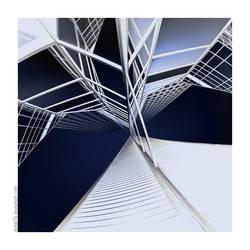 straight twist - blue by detail24