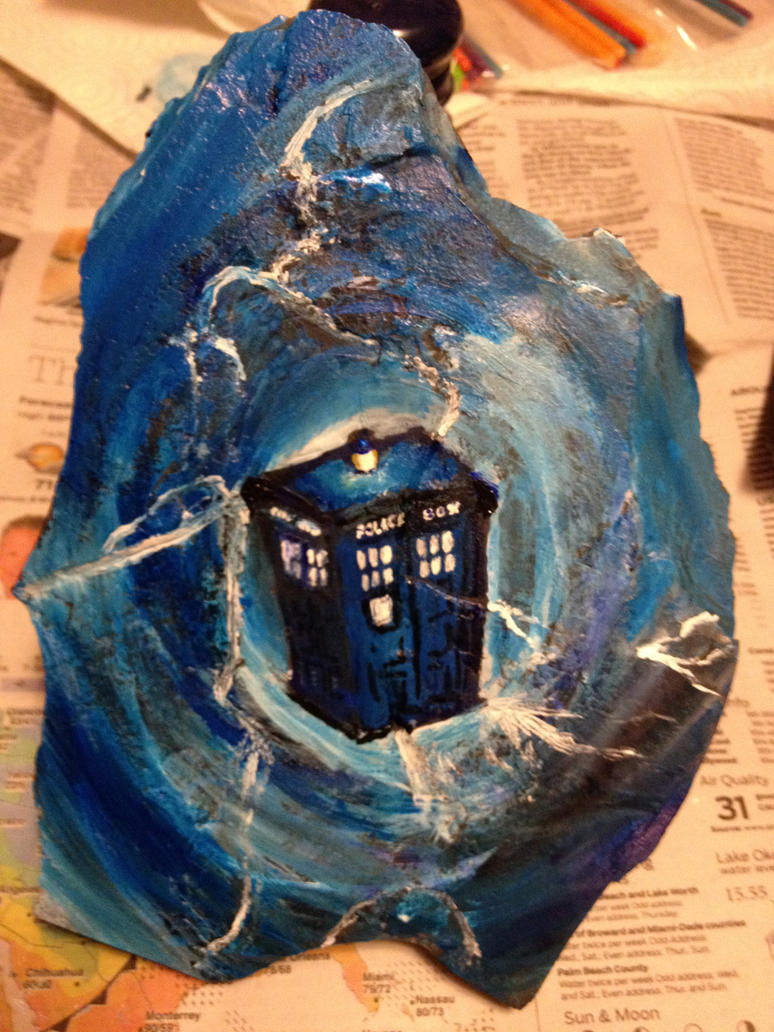 Tardis throught the Time Vortex by EvilMooseArt