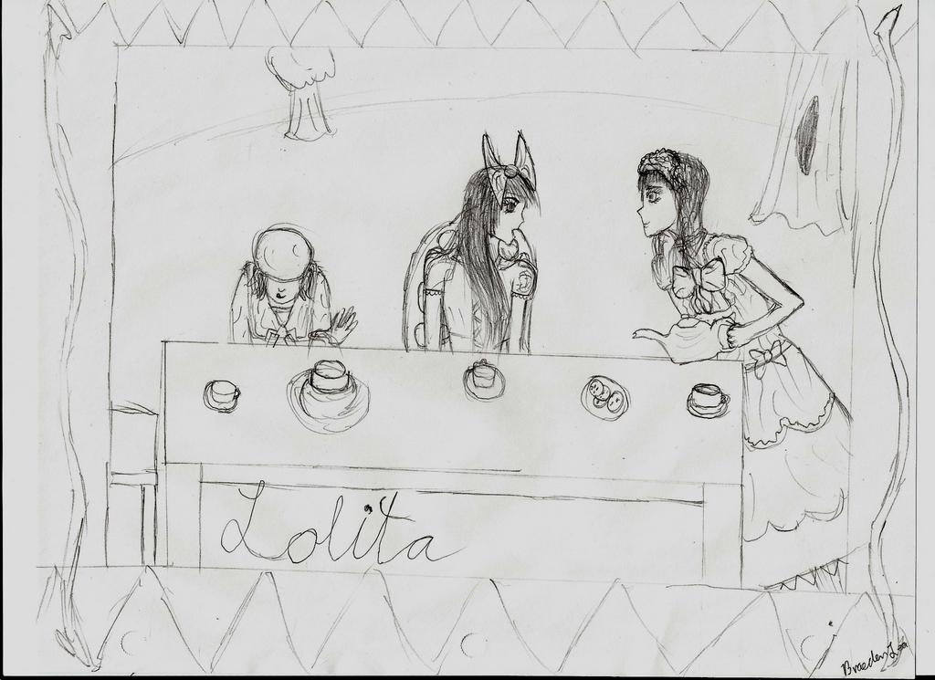 Art Nouvau Lolita poster by b-lea