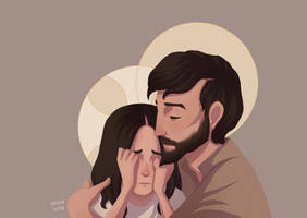Jesus and Joseph by ArlenianChronicles