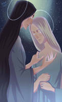 Melkor and Manwe by ArlenianChronicles