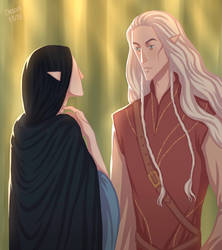 Celegorm Meets Luthien by ArlenianChronicles
