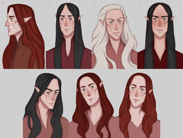 Feanorian Portraits by ArlenianChronicles