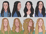 Fingolfinian and Finarfinian Portraits by ArlenianChronicles