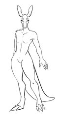 Anthro Kangaroo base (F2U) by space-panther
