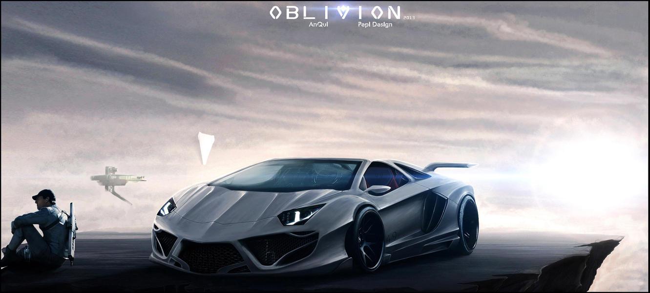 Oblivion Concept Art Lamborghini Aventador By Anqui On