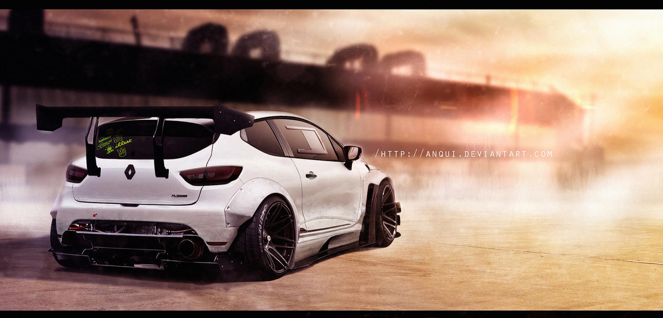 renault clio rs rocket bunny by anqui on deviantart. Black Bedroom Furniture Sets. Home Design Ideas