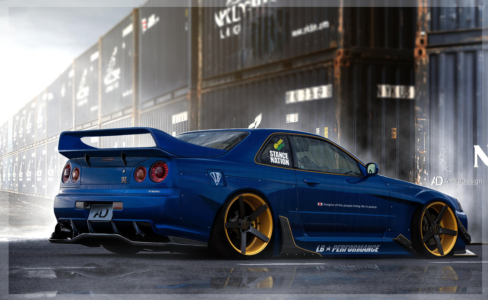 Nissan Skyline R34 Lb By Anqui On Deviantart