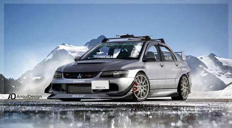 Mitsubishi Lancer Evo IX by aNqUi