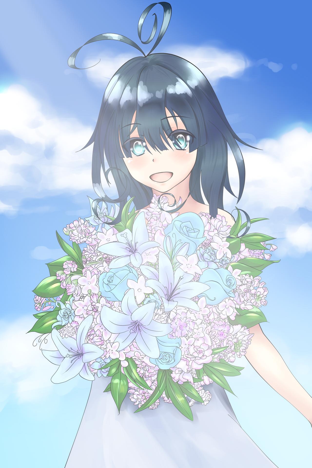 DP109: Blue flower, Aoi hana by Floupfloup