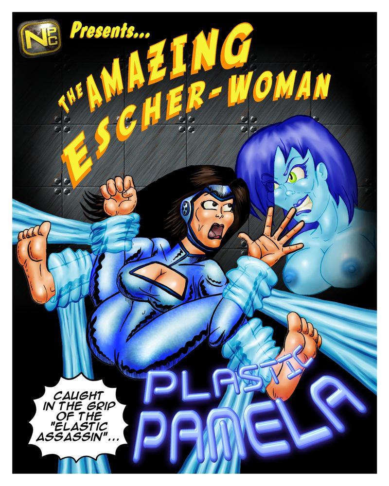 EscherWOMAN vs PlasticPAMELA Poster01 by misterprickly