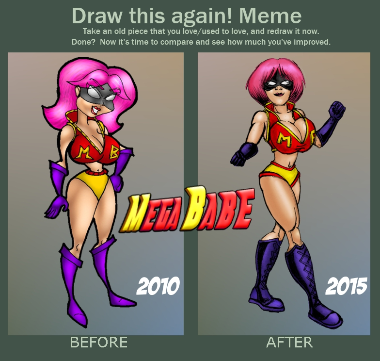 MegaBABE  before and after01 by misterprickly