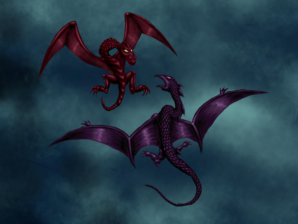 Winged monsters01 by misterprickly