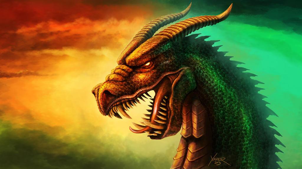 Dragon drawing by chrisxavier