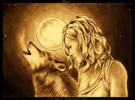 Alone under the moon by chrisxavier