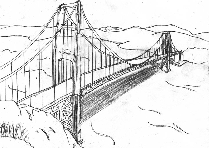 golden gate coloring pages - photo#11