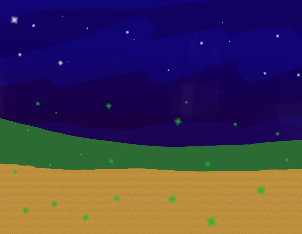 Painting - Fireflies at Night by asneakyninja1