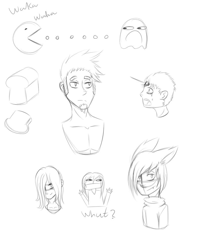 Sketch dump by AllenWalkerFan