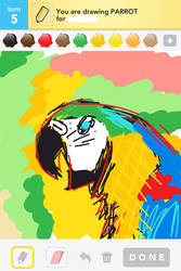 Parrot Finger Drawing by sunnyellow16