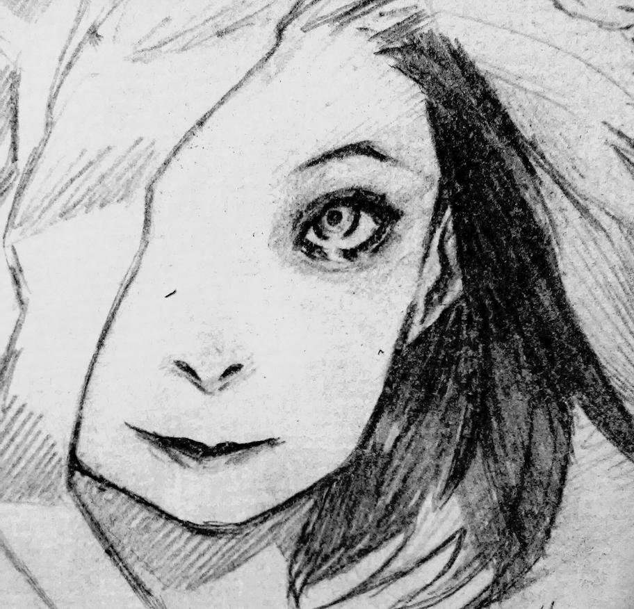 GIRL SKETCH  by da2th