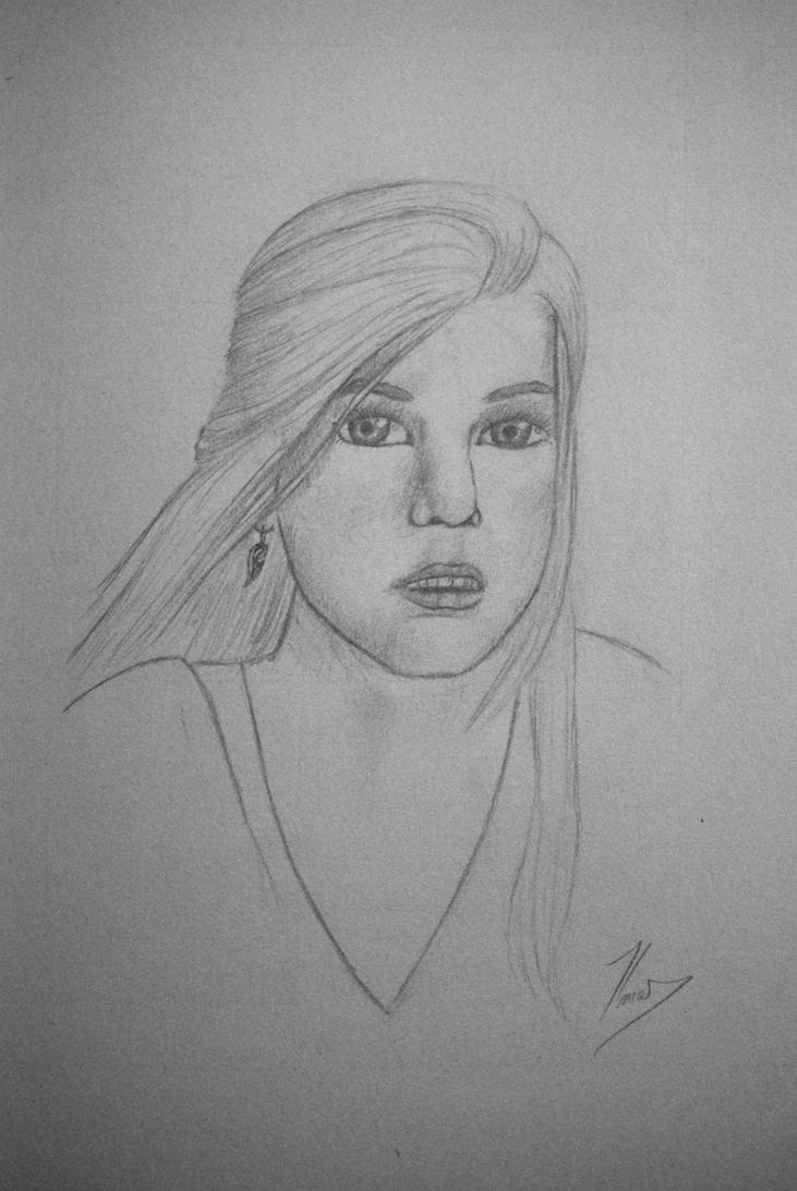 Girl's face I by BranBolger