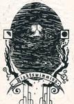 Nightswimming (R.E.M.) linocut