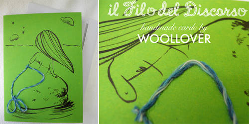 Handmade card-close up-the little mermaid