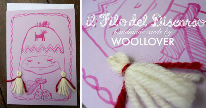 Handmade card-close up-warm