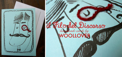 Handmade card-close up-moustache